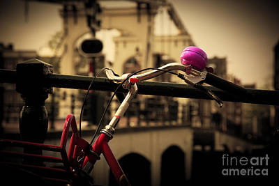 Bicycle Photograph - The Magere Brug Amsterdam by Michal Bednarek