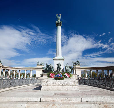 Politics Photograph - The Millennium Monument At Heroes' Square. Budapest by Michal Bednarek