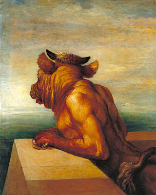 Minotaur Painting - The Minotaur by George Frederic Watts