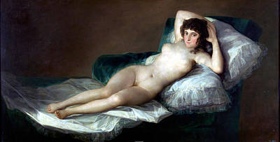 The Naked Maja Print by Francisco Goya