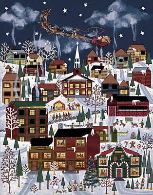 Santa Claus Painting - The North Pole by Medana Gabbard