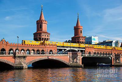 The Oberbaum Bridge In Berlin Germany Print by Michal Bednarek