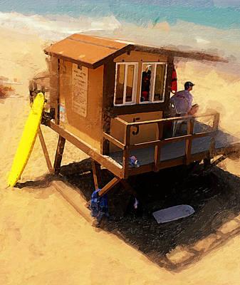 The Ocean Guard Print by Ron Regalado