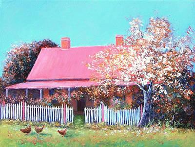 The Old Farm House Print by Jan Matson