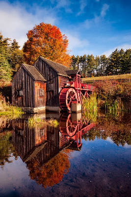 The Old Grist Mill Print by Michael Blanchette