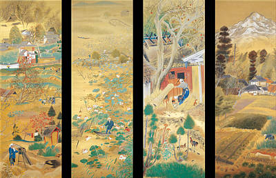 Kyoto Painting - The Outskirts Of Kyoto Throughout The Season  by Ochiai Rofu