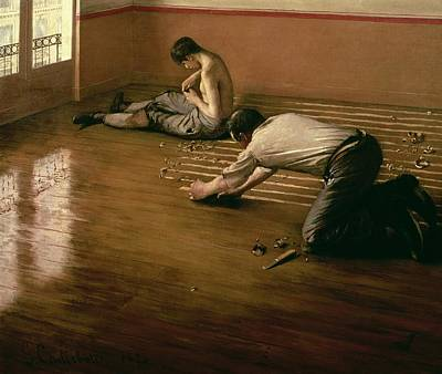 The Parquet Planers Print by Gustave Caillebotte