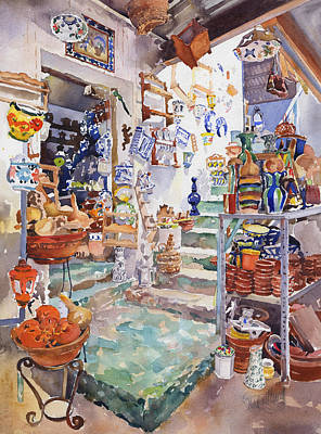 The Pottery Shop Original by Margaret Merry
