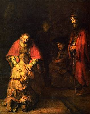 The Prodigal Son Print by Rembrandt
