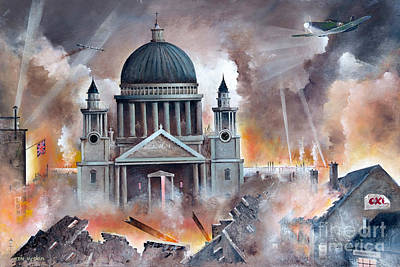 Ww11 Aircraft Painting - The Pursuit by Ken Wood