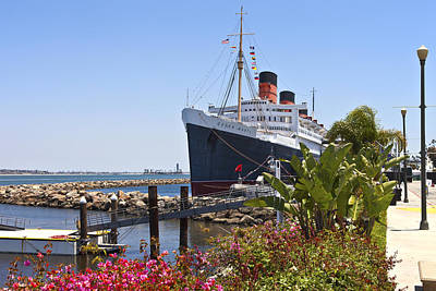 The Queen Mary Long Beach California. Print by Gino Rigucci