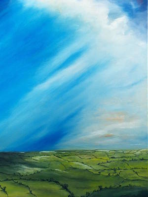 Impressionist Painting - The Quilt Of Ireland by Conor Murphy