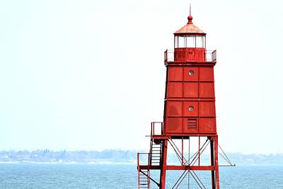 The Red Lighthouse Print by Hodari Art  Collection