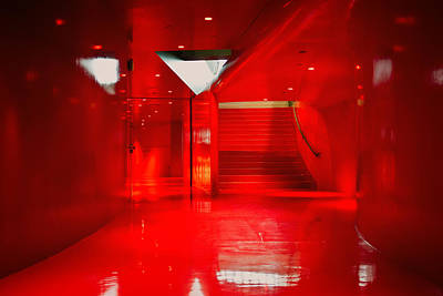 Northwest Library Photograph - The Red Room by Tanya Harrison