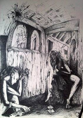 Drawing - The Room by Robert Art
