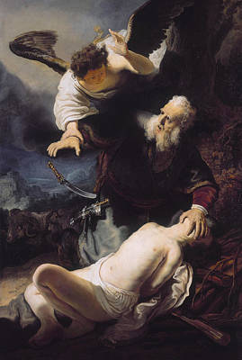 The Sacrifice Of Abraham Print by Celestial Images