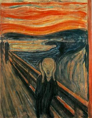 Red Painting - The Scream by Celestial Images