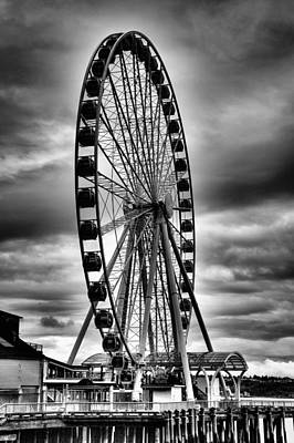 Wheel Photograph - The Seattle Great Wheel by David Patterson