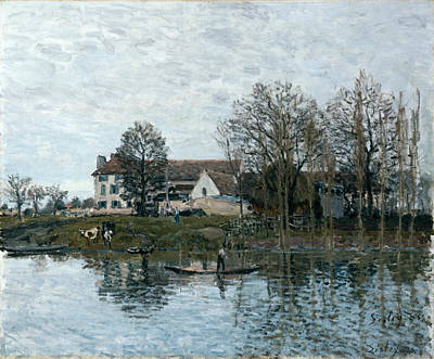 Alfred Sisley Painting - The Seine At Port-marly by Alfred Sisley