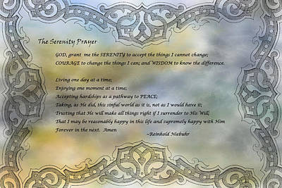 The Serenity Prayer 2 Print by HH Photography of Florida