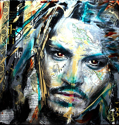 Johnny Depp Mixed Media - The Talented Mr. Depp by Penelope Stephensen