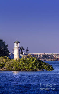The Tampa Lighthouse Print by Marvin Spates