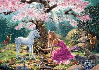 Unicorn Digital Art - The Tree Of Life by Steve Read