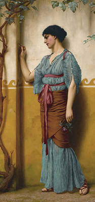 John William Godward Painting - The Trysting Place by John William Godward