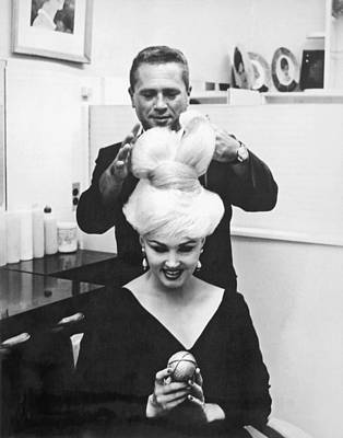Blonde Hair Photograph - The Unisphere Hairdo by Underwood Archives