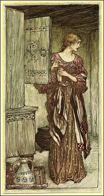Cycles Painting - The Valkyrie by Arthur Rackham