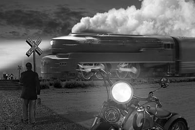 Locomotive Photograph - The Wait by Mike McGlothlen