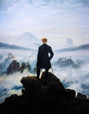 Caspar Painting - The Wanderer Above The Sea Of Fog by Celestial Images