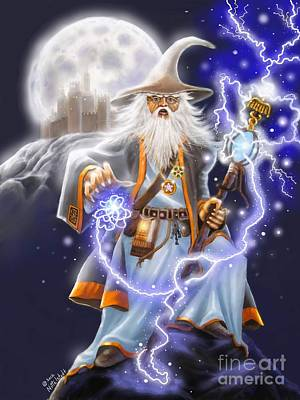 Fantasy Painting - The Wizard by Rick Mittelstedt