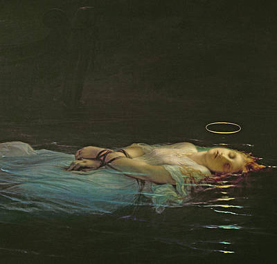 Floating Girl Painting - The Young Martyr by Hippolyte Delaroche