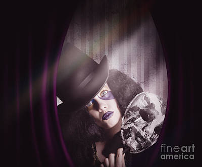 Theater Performer Play Acting Masquerade Show  Print by Jorgo Photography - Wall Art Gallery