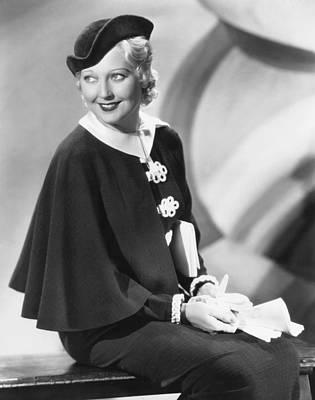 Thelma Photograph - Thelma Todd, 1934 by Everett