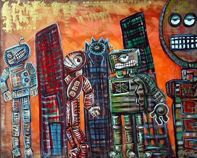 Mecha Painting - They Live by Laura Barbosa