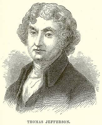 Thomas Jefferson Print by English School