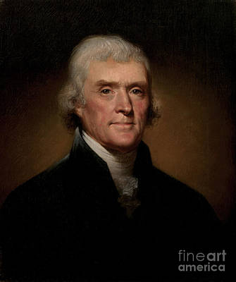 Peale Painting - Thomas Jefferson by Rembrandt Peale