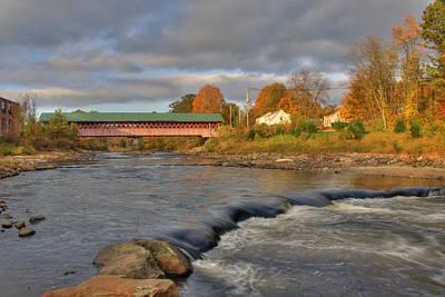 New Hampshire Photograph - Thompson Covered Bridge 2 by Joann Vitali