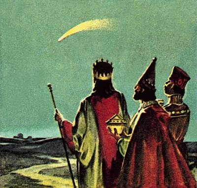 Comet Painting - Three Wise Men by English School