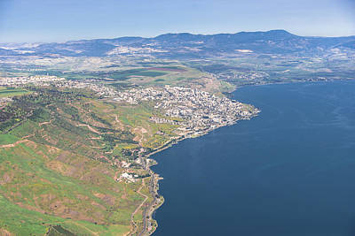 Tiberias, Sea Of Galilee Print by Ofir Ben Tov