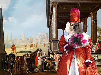 Tibetan Spaniel Painting - Tibetan Spaniel Art Canvas Print By Nobility Dogs by Sandra Sij