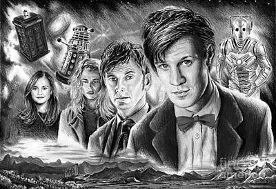 Science Fiction Drawing - Time Travel by Andrew Read