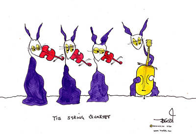 Tis String Quartet Print by Tis Art