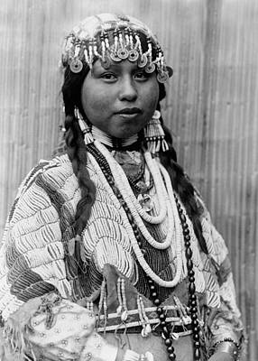 Jewelry Photograph - Tlakluit Indian Woman Circa 1910 by Aged Pixel
