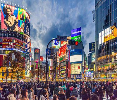 City Photograph - Tokyo Japan Shibuya Crossing by Cory Dewald