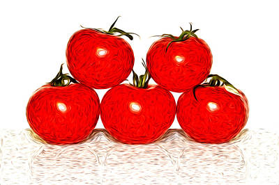 Tomatoes Print by Sabine Jacobs