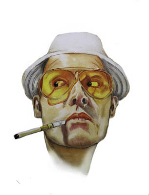 Hunter S. Thompson Pastel - Too Weird To Live Too Rare To Die by Courtney James