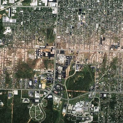 Tornado Damage, Joplin, Usa Print by Science Photo Library